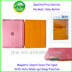 PU+PC smart cover for ipad 2 with sleep function