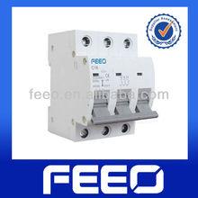 Overload protection MCB breaker 3p three phase mini circuits