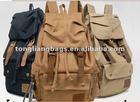 fashion blank canvas backpack custom teenager shoulder canvas backpack bag