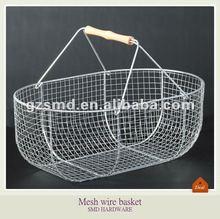 Chrome metal mesh wire basket L size