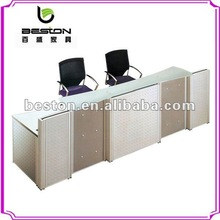 glass office reception table design NA-005