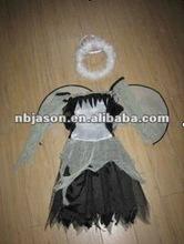 Siyah melek elbise/melek kostümleri/melek kız için elbise