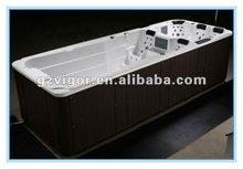 luxury outdoor wooden bathtub