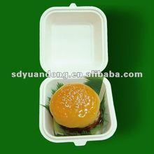 decomposable paper pulp disposable hamburger box