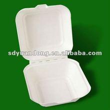 single use bagasse biodegradable hamburger box
