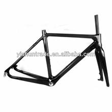 2014 YISHUNBIKE Best Performance 52cm carbon cycle cross frameset BSA/BB30 canti-brake/Disc system cyclocross frame YS-CX02
