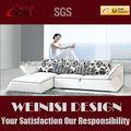 Moderno design de metal base de real sofá de canto de couro chaise H1032A