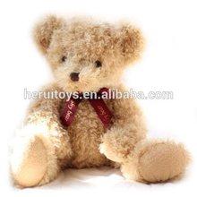 Stuffed light brown teddy bear plush toy animal&baby plush toy