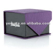 2012 fashion black & purple color printing neck tie box with silver hot stamping, paper tie boxes with logo, tie packagign boxes
