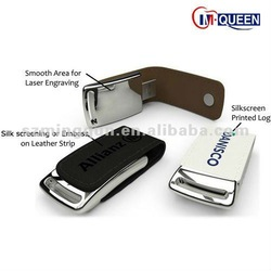 New products Leather usb flash drive / leather usb stick made in china accept alibaba express