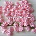 9mm fita de cetim rosa flor artesanal guarnição de noiva rosa para acessórios de vestuário