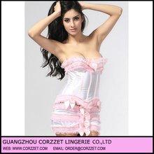 Wholesale 2012 Sexy pink Cheap Burlesque Corset Dress