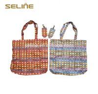 Fashion new design reusable china cheap foldable nylon shopping bag
