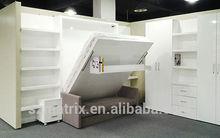 China Sofa Wall Bed Supplier,Wooden Folding Sofa Wall Bed,Transformable sofa Wall bed