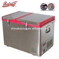 60L ACDC outdoor Dual Zone solar potable mobile car freezer/camping freezer/RV freezer Freezer & Fridge