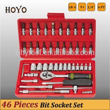 "1/4"" Dr.46PCS Socket Set/High Quality Bits Ratchet Handle Socket Set"