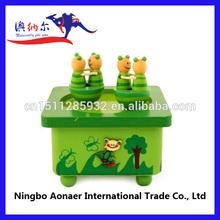 instrumental fancy painted wood musical box unique design