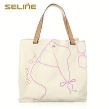 Fashion customized good for health designer lady handbag cotton bag