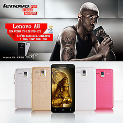 "Lenovo A806 5"" Android 4.4 Mobile Phone with FM Cameras GPS White"