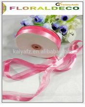 sheer organza with satin ribbon for wedding/chrismas/parties decoration