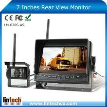 For Trailer Truck RV Forklift Waterproof 7 inch digital wireless camera system 12V