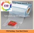 açık ısı poliolefin tübüler shrink sarma için film