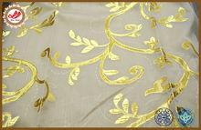 European style golden motif of rolled grass gauze home decor curtain