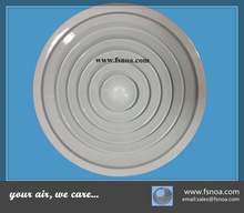 aluminum round ceiling air diffuser with removable and adjustable core