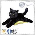 de juguete de felpa gato realista negro suave del gato de peluche juguetes de peluche