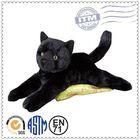 Plush toy cat lifelike soft black cat plush stuffed toys