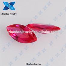 venta al por mayor sintético forma marquesa facetas ruby cuentas