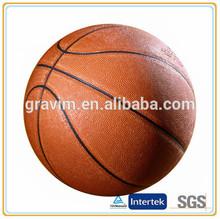 Basketball pvc material brown color cusom logo