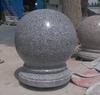 Hand-carved polished granite block,garden Stone ball road blocks