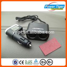 DC 12V 24V dual socket car cigarette lighter usb mp3 player