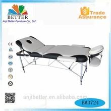 Better 3 sections folding aluminium massage table,massage bed