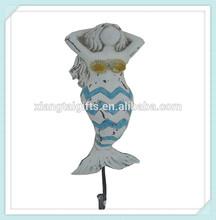 sex mermaid figurine decorative resin wall hooks