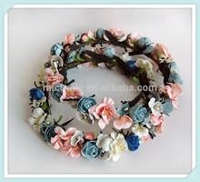 Foamflower Hair Wreath Floral Head Piece Fabric Flower Accessory Wedding Crown Halo Headband