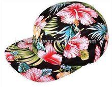 Hip hop/floral print snapback cap light hiking hats and caps ventilate hip hop snapback caps with lining cloth