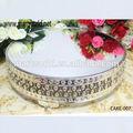 Personalizado de plata decoración de pie para pastel; de alta calidad de la ronda pie para pastel de boda decoración( torta- 007)