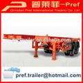Attractive dans le prix et la qualité 2 essieux récipient de 20ft squelette semi-remorque à vendre