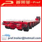 heavy duty multi-axle hydraulic truck trailer/12 axis modular trailer with power gooseneck