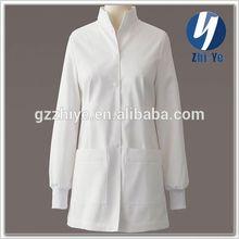 hospital use uniform white fashion lab coat