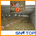 Automatic poultry feeder system for chicken broiler farm