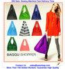Customized Reusable Foldable shopping bag with pocket, 210D nylon shopping bag, 190Tpolyester shopping bag
