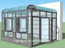 sunrooms/sun room/sunroom/Aluminum sunroom/glass roof price/ portable sun room, super quality and competitive price