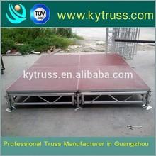 Used aluminium portable stage with plywood platform