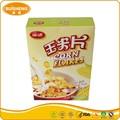 Instant comida halal saúde lanche cozido de milho em flocos em caixa de cereais de pequeno-almoço