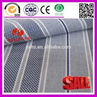 100% cotton dobby white light blue stripe fabric