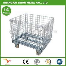 Warehouse Steel Galvanized Folding Wire Mesh Cage Storage Cage