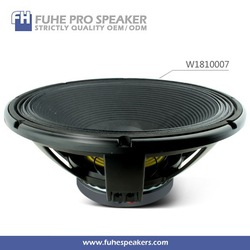 China SPL 96DB 18inch pro audio DJ speaker subwoofer